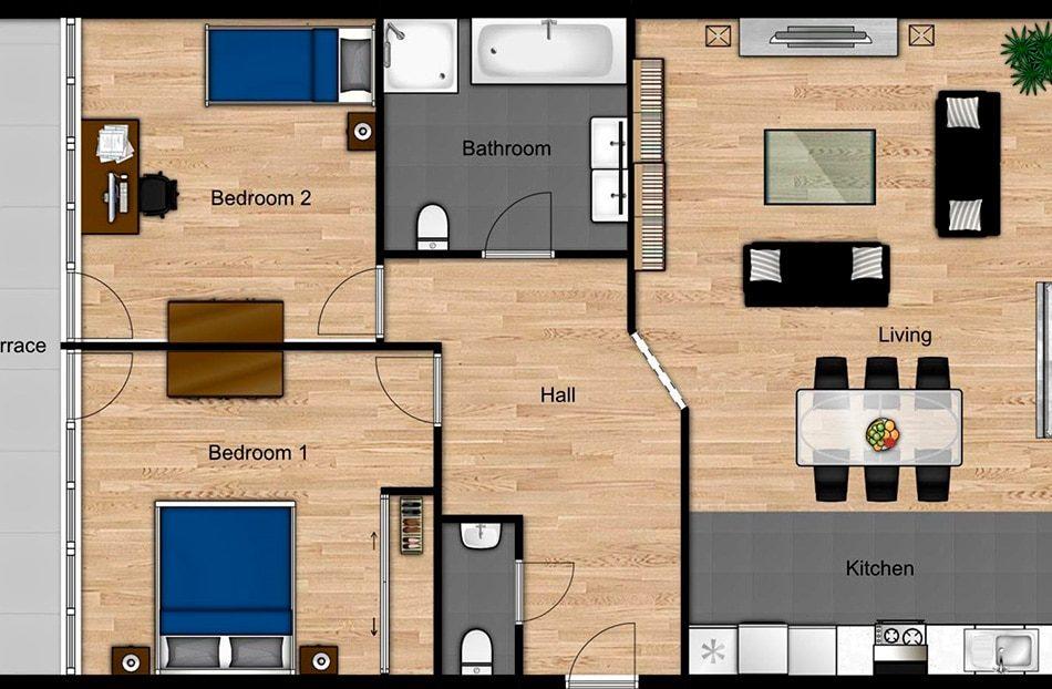 Le plan 2D de votre bien immobilier